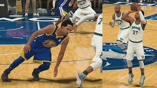 NBA 2K18 My Career - Curry Range vs Warriors! PS4 Pro 4K Gameplay
