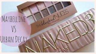 getlinkyoutube.com-Maybelline The Blushed Nudes VS. Urban Decay Naked 3 | MissJenFABULOUS