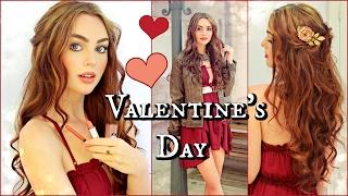getlinkyoutube.com-Valentine's Day Inspiration! Makeup, Hair & Outfits💋 GRWM
