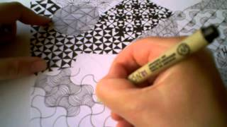 Zentangle Pattern Samplers 1 | For Beginners - Part 3