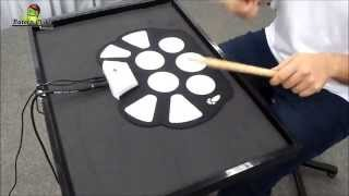 getlinkyoutube.com-Bateria Eletrônica Infantil Roll-Up Drum Kit W-758 sound check