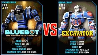 getlinkyoutube.com-Real Steel WRB Bluebot VS Excavator NEW Robot updating (Живая Сталь)