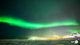 getlinkyoutube.com-Mid-March solar storm blasts aurora borealis light shows