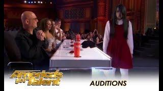 Sacred Riana: Famous CREEPY Girl Magician Comes To America!   America's Got Talent 2018