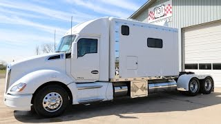 "getlinkyoutube.com-2015 Kenworth T680 ARI 144"" Sleeper Big Bunk"