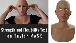 getlinkyoutube.com-Taylor Silicone Mask - Strength and Flexibility Test