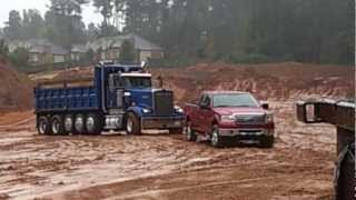 getlinkyoutube.com-my ford f150 in the mud pulling out a stuck dump truck