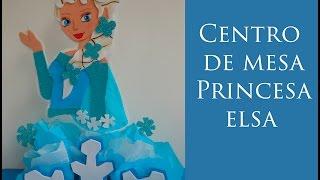 getlinkyoutube.com-Centro de mesa Princesa Elsa Frozen