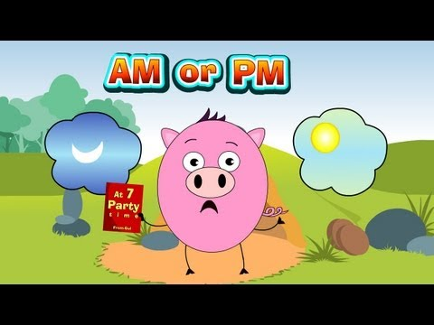 Clocks and Time A.M and P.M - Class 4 Math for Kids