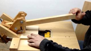 "getlinkyoutube.com-Homemade ""Kreg Jig""Pockethole Machine Drilling Hardwood 4"