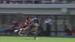 Kenki Fukuoka uses his pace for try saving tackle