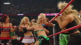 WWE Raw Team Mickie James vs Team Beth Phoenix (Backlash Rematch)