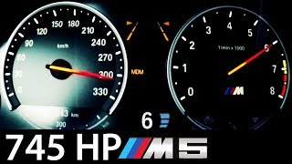 getlinkyoutube.com-BMW M5 F10 Acceleration 745 HP 0-300 Onboard V8 Sound Exhaust Aulitzky Tuning