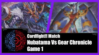 getlinkyoutube.com-Cardfight!! Vanguard - Nubatama (Shura) Vs Gear Chronicle (Chronojet) - Game 1