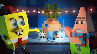 "♪ Spongebob in Minecraft : ""Santa has it's eyes on me"" ♪ ( Minecraft Animation ) ♪"