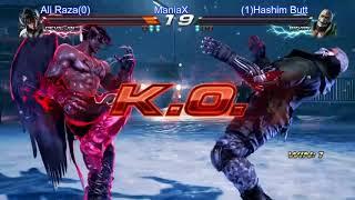 Tekken 7 Ali Raza(Deviljin) vs Hashim Butt(Bryan) ManiaX Fighters cup s2