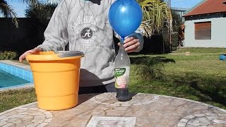 getlinkyoutube.com-Inflar globos que flotan con aluminio - How to inflate flying ballons with aluminum