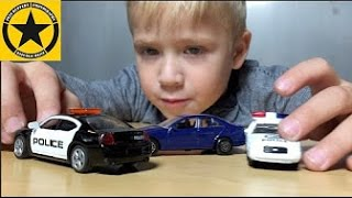 getlinkyoutube.com-SIKU DODGE CHARGER POLICE Car Chase (with WELLY Modellautos)