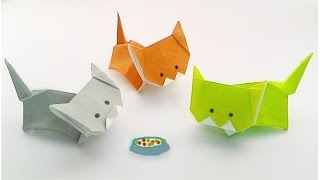 getlinkyoutube.com-Origami a little cat /พับแมวน้อย