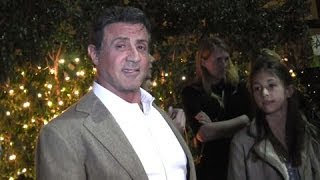 getlinkyoutube.com-Sly Stallone Dines With Family, Says Bob Dylan Rambo Song Was 'A Long Shot'
