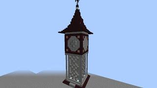 getlinkyoutube.com-Minecraft アナログ時計表示盤(時計台)