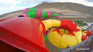 getlinkyoutube.com-[HD POV] Constrictor Dark Water Slide - Wet n Wild Water Park 2015 - Las Vegas