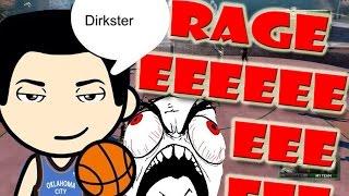 DirksterKnows BREAKS CONTROLLER LOL - CHOKE and RAGE MOMENT- NBA 2K16