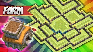 Clash of Clans - BEST TOWNHALL 8 FARMING BASE w/ Air Sweeper!!