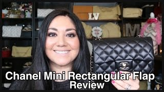 getlinkyoutube.com-Chanel Mini Rectangular Flap Review + Mod Shots