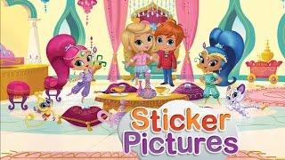 getlinkyoutube.com-★ Nick Jr Sticker Pictures - Shimmer & Shine (Make a Scene Game)