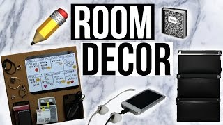 getlinkyoutube.com-DIY TUMBLR ROOM DECOR and Organization 2015! Keep your room organized!