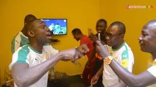 Pape Diouf et sa femme Bébé Base ont regardé le match Sénégal avec Fred, Ousmane Gangué