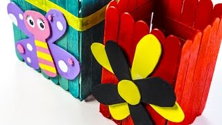 getlinkyoutube.com-How to Make a Decorative Box out of Popsicle Sticks