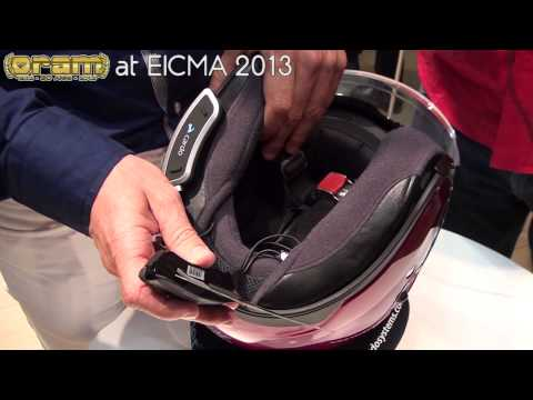 Oram @ EICMA 2013: CARDO SHO-1 NEW Shoei Communication System - ENGLISH VERSION