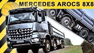 getlinkyoutube.com-🔥Mercedes-Benz Arocs Kipper 8x8 Offroad LKW Test im Steinbruch & Vorstellung im Detail - Bauforum24