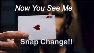 getlinkyoutube.com-Now You See me /David Blaine Card Trick!  (Snap Change Tutorial!)