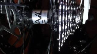 getlinkyoutube.com-Pacco pignoni XT traballante su cerchio Mavic crosstrail.....