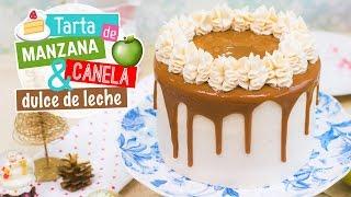 getlinkyoutube.com-Tarta de manzana, canela y dulce de leche | Recetas navideñas | Quiero Cupcakes!
