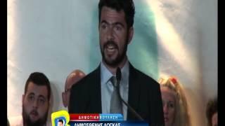 Ομιλια υπ. δημαρχου Δημοσθενη Δογκα στην πλατεια της Βουλας
