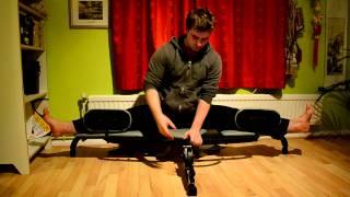 getlinkyoutube.com-Side Splits Stretching on Century Versaflex (Stretching Machine)