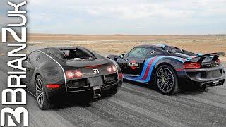 Supercars Drag Racing 1 - Veyron, P1, 918, Huracan, 650S