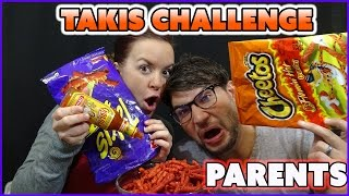TAKIS AND HOT CHEETOS CHALLENGE | PARENTS EDITION | SMELLYBELLYTV