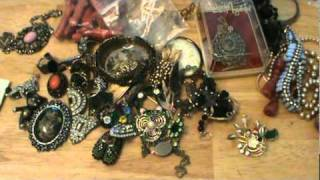 getlinkyoutube.com-#2 of My Antique Store Vintage Jewelry Haul for my Ebay!