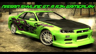 Need For Speed Most Wanted: Nissan Skyline GT-R R34 mod gameplay