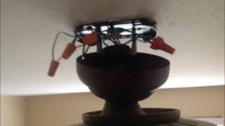 "48"" Harbor Breeze Impact Ceiling Fan Installation"