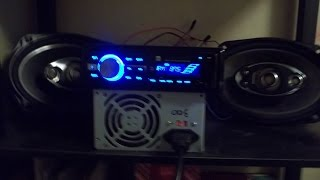 getlinkyoutube.com-How to connect a power supply to a car radio in home