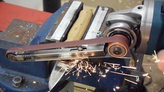 Making a Power File | Angle Grinder Hack | Grinder Attachment