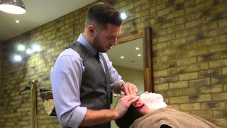 getlinkyoutube.com-Old school straight shave by The Barber Luke