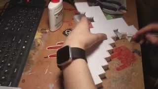 getlinkyoutube.com-How to make Minecraft Paper Sword hand made Меч из бумаги сделать