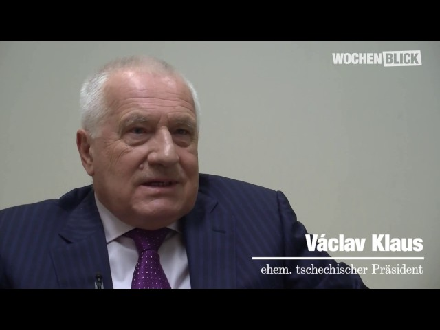 Václav Klaus zur aktuellen politischen Lage